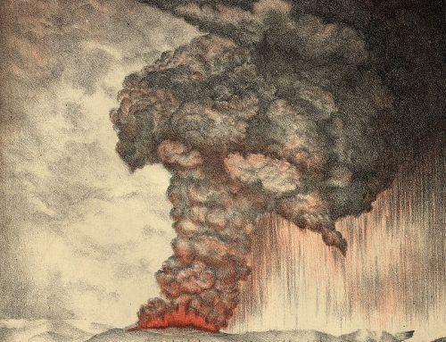 Katastrofická erupcia sopky na ostrove Krakatoa v roku 1883